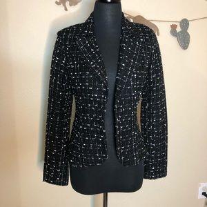 Black & lavender tweed blazer
